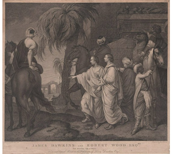 James Dawkins Robert Wood Discovering Palmyra engraving Gavin Hamilton