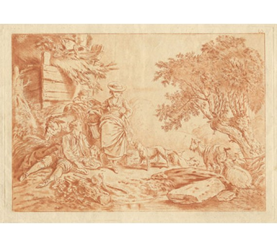 French bucolicetching style Boucher