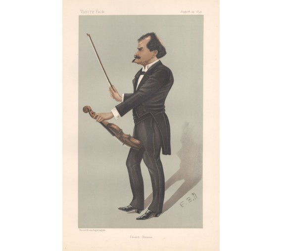 Vanity Fair Eduard Strauss portrait music violin