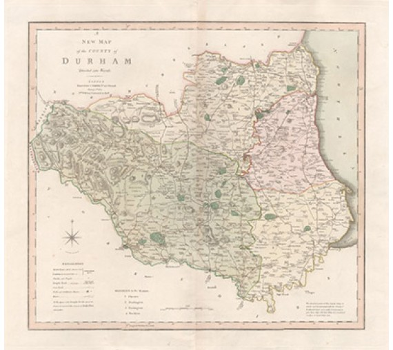 map county durham divided into wards antique smith