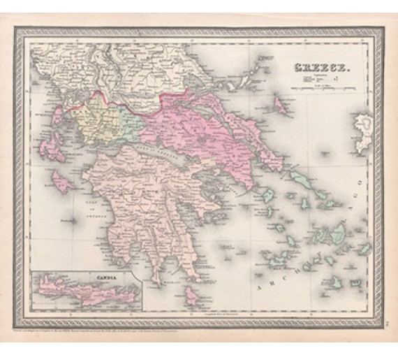 greece cowperthwait antique map