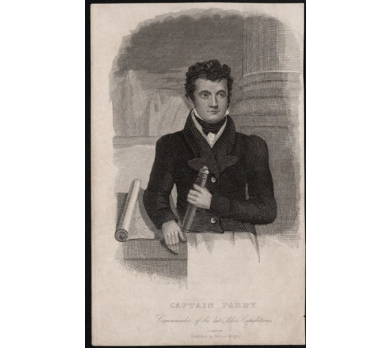 Captain Parry Commander Polar Expeditions portrait engraving