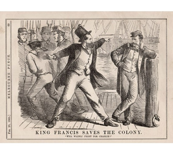 King Francis Saves Colony Melbourne Punch 1865