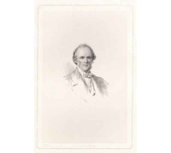 Charles Lyell portrait engraving Richmond geologist