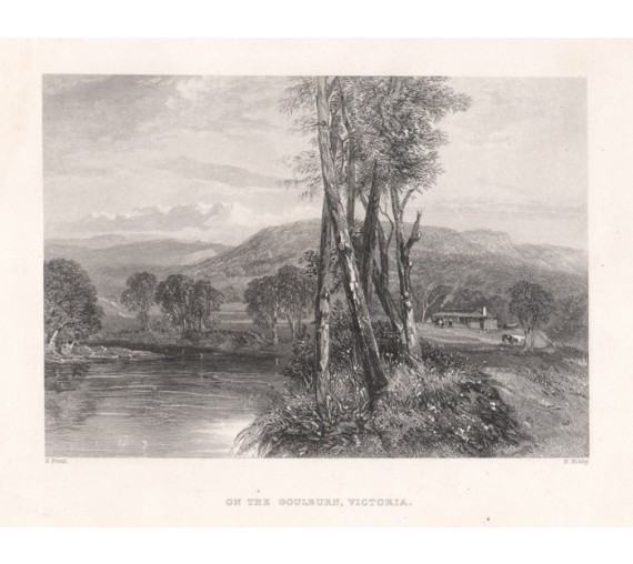 On the Goulburn Victoria engraving John Skinner Prout 1874
