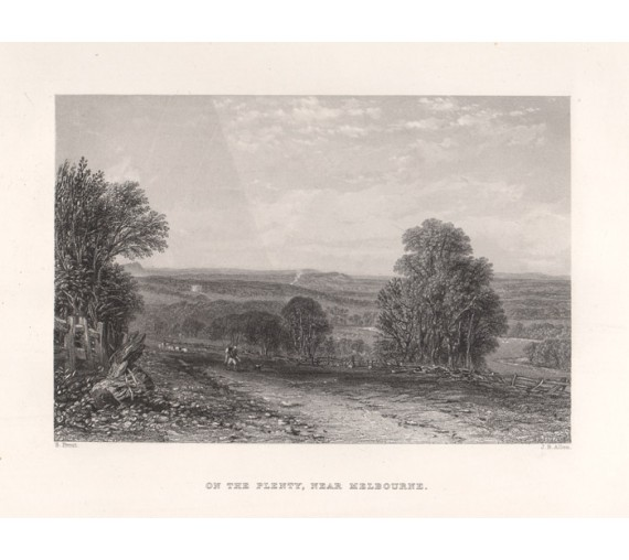 On the Plenty near Melbourne engraving Prout 1874