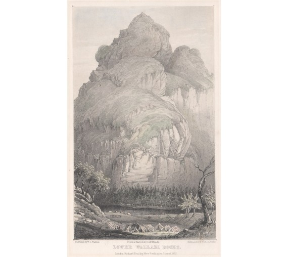 Lower Wallabi Rocks lithograph Walton Mundy 1852