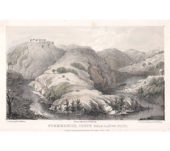 Summerhill Creek lithograph Walton Mundy 1852