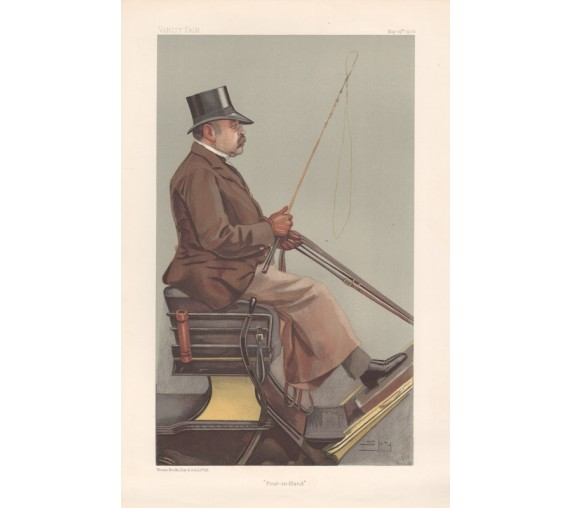 Vanity Fair Baron Deichmann coaching Spy antique print