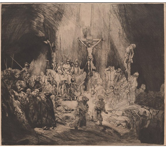 The Three Crosses Etching Armand Durand Rembrandt