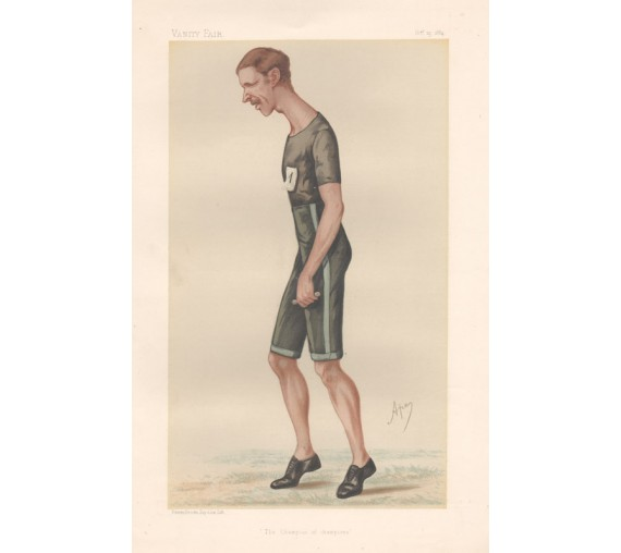 Vanity Fair Athlete Walter Goodall George spy print