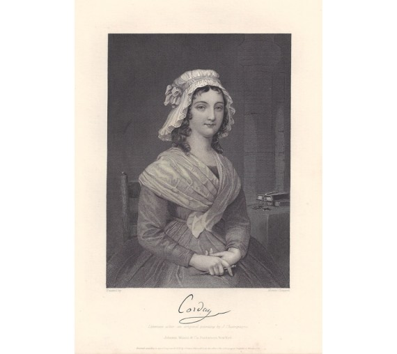 Charlotte Corday portrait engraving French Revolution