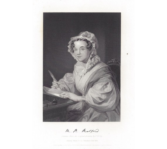 Mary Russell Mitford portrait engraving print author
