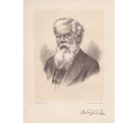 Henry Parkes portrait lithograph  William Macleod