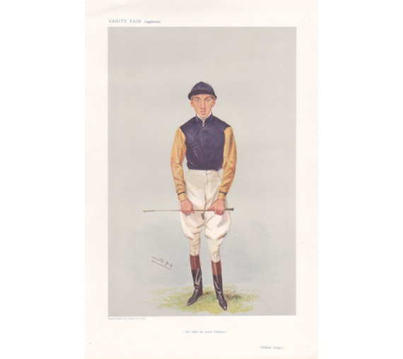Vanity Fair Jockey William Griggs spy antique horse racing