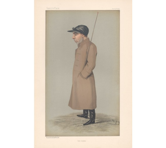 Samuel Loates antique Vanity Fair jockey chromolithograph 1896