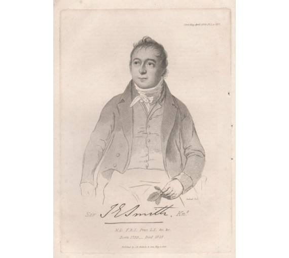 James Edward Smith portrait engraving Andinet 1828