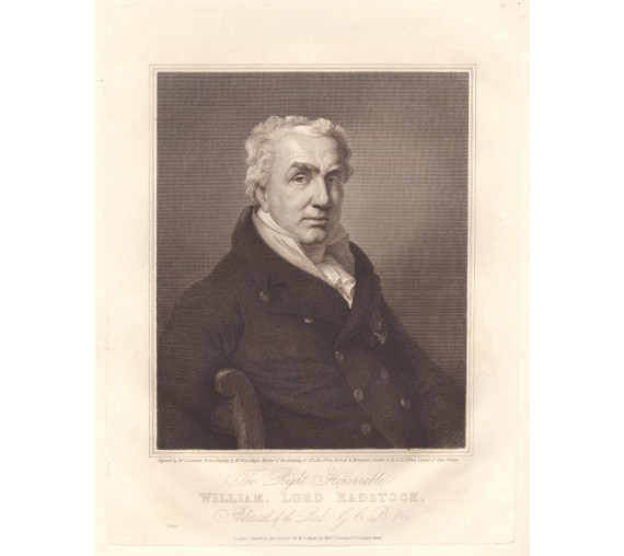 Admiral William Lord Radstock Hayter portrait engraving