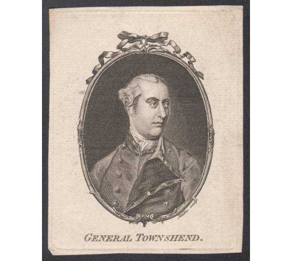 General George Townshend portrait engraving military