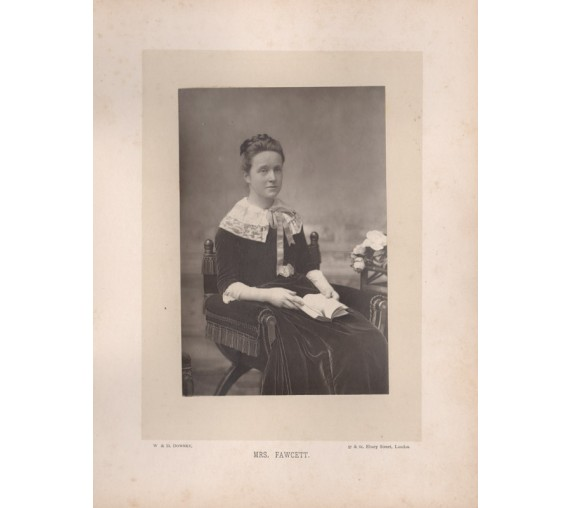 Mrs Fawcett portrait photograph Downey suffragist suffregette