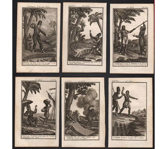 Robinson Crusoe engraving French
