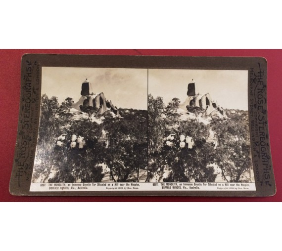 Monolith Buffalo Ranges Stereoview photograph George Rose