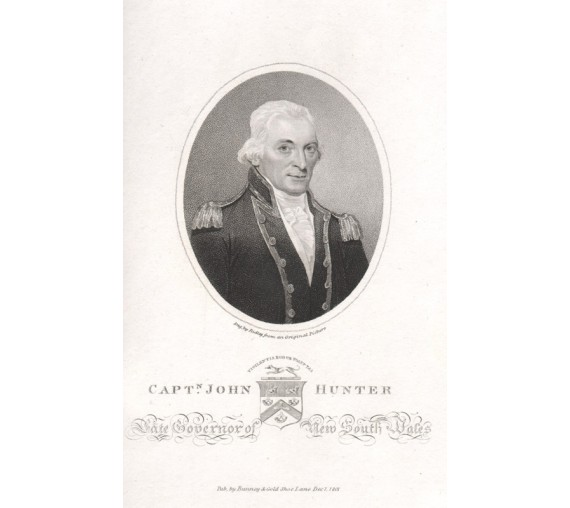 John Hunter Late Governor engraving W Ridley 1801