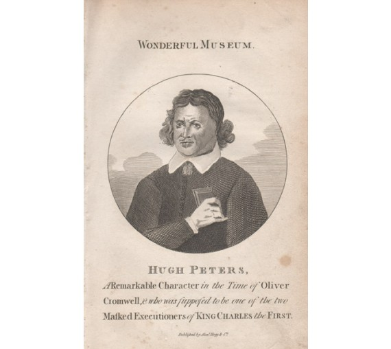 Hugh Peters Puritan Preacher portrait engraving print