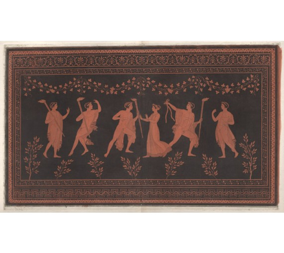 Satyrs maenads William Hamilton Greek Vase painting engraving Etruscan D'Hancarville