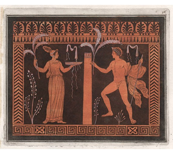 Libation William Hamilton Greek Vase painting engraving D'Hancarville