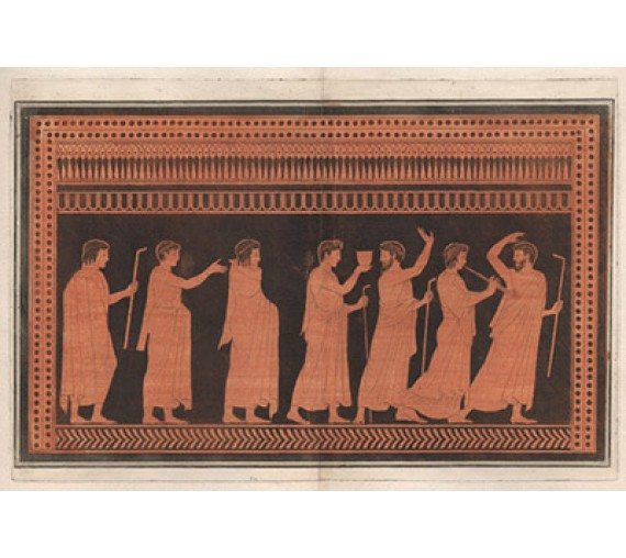 Symposium William Hamilton Greek Vase painting engraving Etruscan D'Hancarville