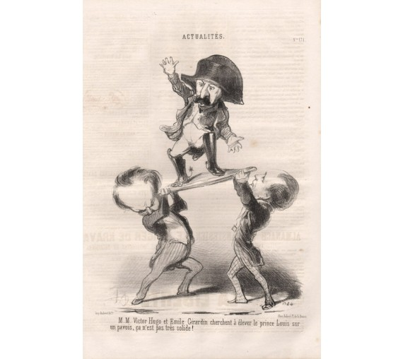 Honore Daumier lithograph Actualities 1848 Le Charivari