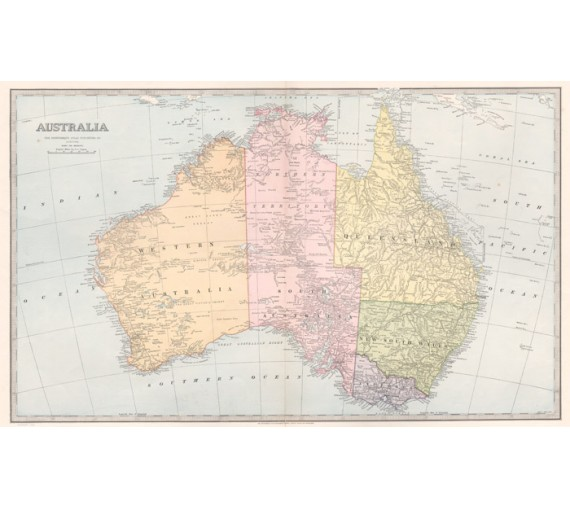 australia general antique map