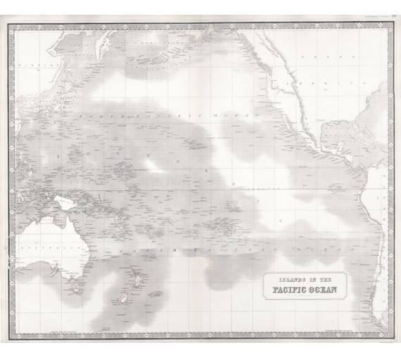 islands in the pacific ocean johnston antique map