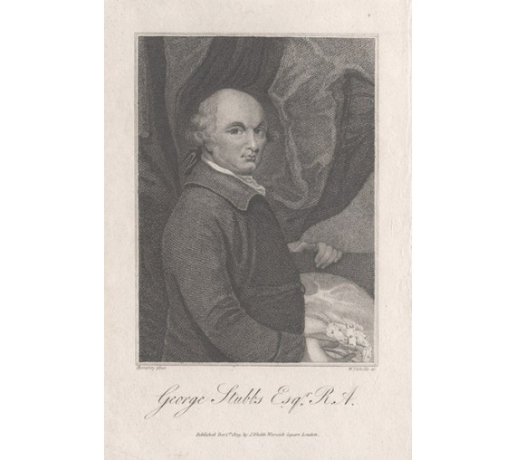 George Stubbs portrait engraving Ozias Humphrey 1809