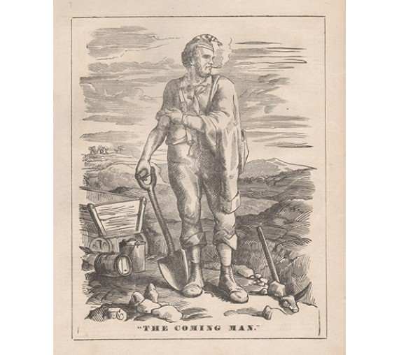 Coming Man engraving Chevalier 1858 Melbourne Punch