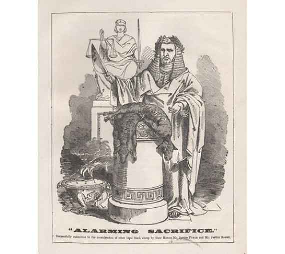 Alarming Sacrifice Redmond Barry engraving Melbourne Punch