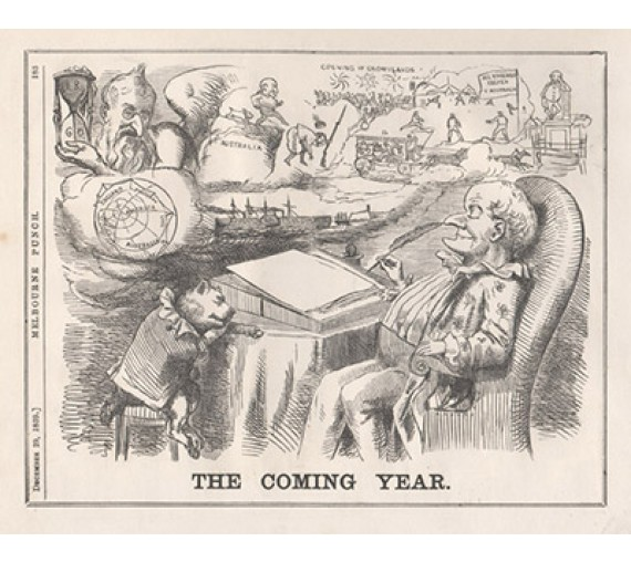 The Coming Year engraving 1859 Melbourne Punch