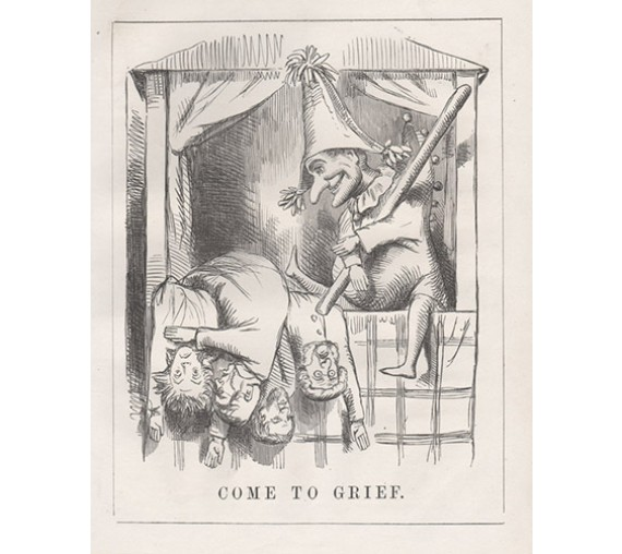 Come to Grief engraving 1859 Melbourne Punch