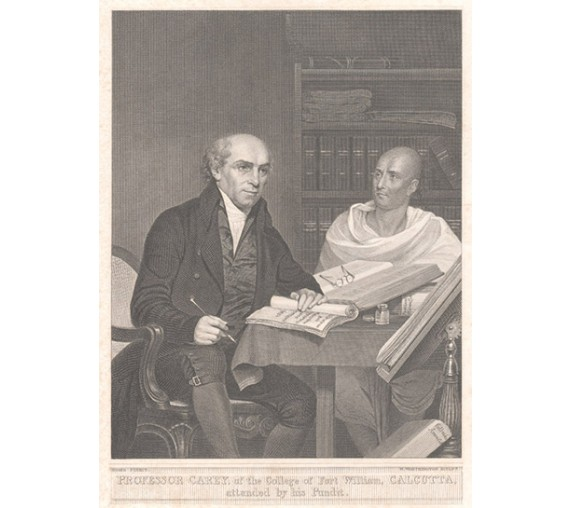 William Carey Baptist Calcutta Pundit portrait engraving India