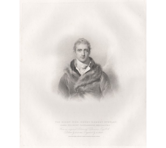 Lord Viscount Castlereagh etching Thomas Lawrence 1814