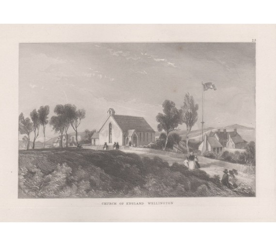 Church of England Wellington New Zealand engraving