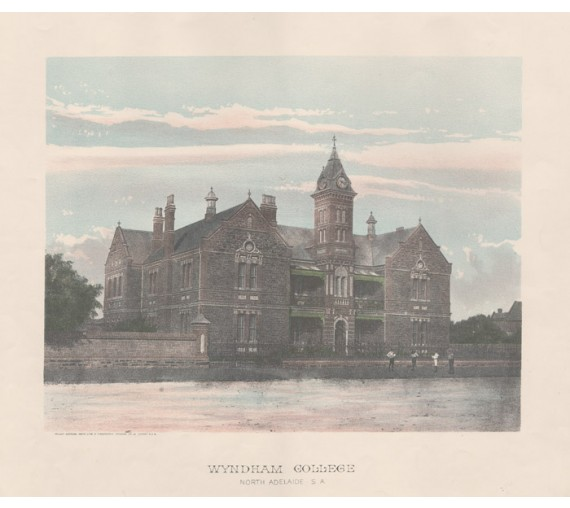 Wyndham College North Adelaide photo lithograph