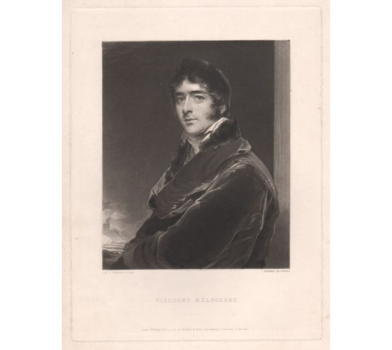 Viscount Melbourne Mezzotint Edward McInnes Thomas Lawrence