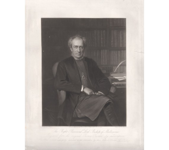 Charles Perry Bishop Melbourne Mezzotint Weigall