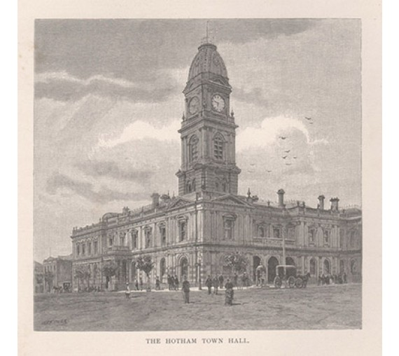 Hotham Town Hall engraving Fitler