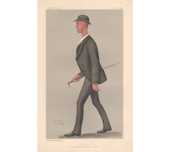 Vanity Fair Searle Champion Sculler Chromolithograph 1889