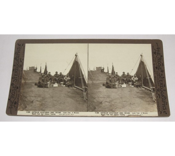 Australian Expeditionary Force Geelong Rose stereoview