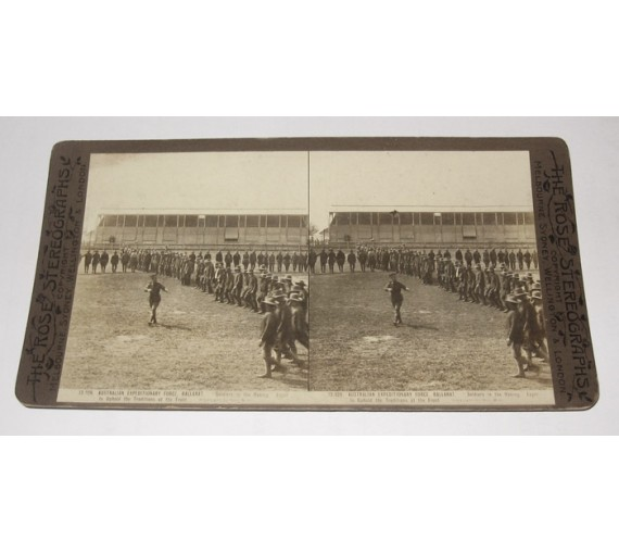 Australian Expeditionary Force Ballarat Rose stereoview