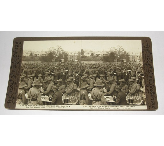 Australian Expeditionary Force Royal Park Rose stereoview